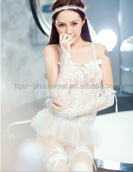 27204c0e34cb 2016 new white transparent women sexy hot night sleeping dress