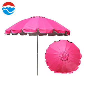 260cm 12k Pink Custom Printing Por Portable Beach Umbrella Whole