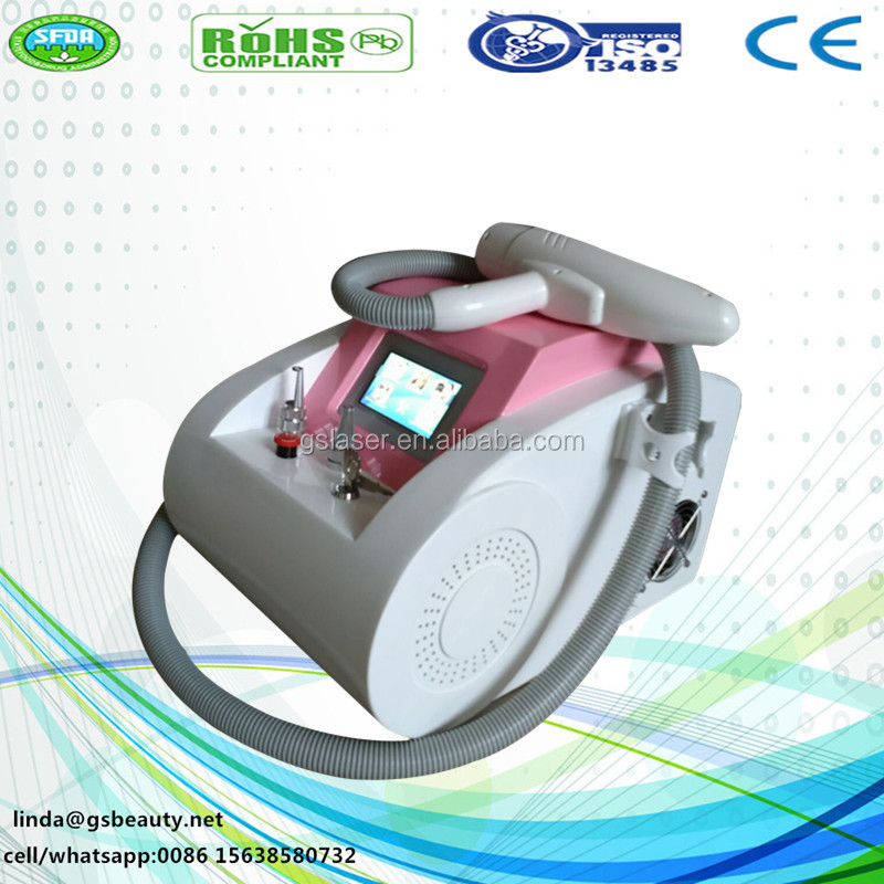 OEM/ODM beauty device 1064 nm 532nm nd yag laser Q- Switched Nd YAG Laser tattoo removal Machine