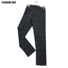 Factory In Stock Cheap Price <strong>Women</strong> Fall Fashion Long Plaid Check <strong>Pants</strong> Sale