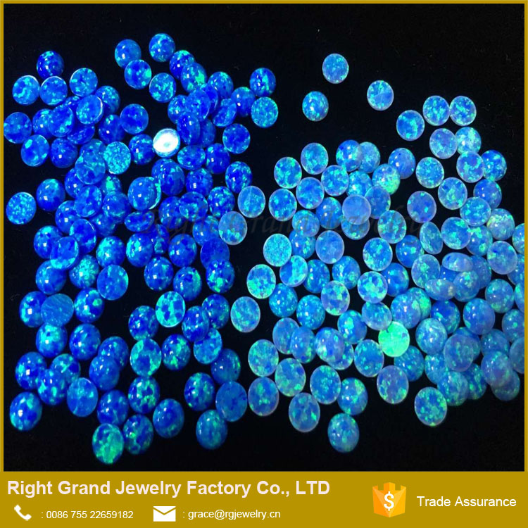 Synthetic Cabochon Blue Opals 5mm Opal Beads In Bulk Loose Opal Beads For Jewelry Making