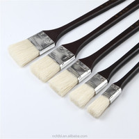 Hot Sale Hog Bristle Hair Oil Paint Brush Set Wood Handle Flat Paint Brush, Industrial Painting Tool
