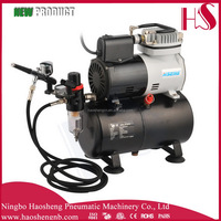 AF186 2015 new mini airbrush compressor with fan auto stop start mini air compressor for airbrush hobby airbrush tattoo