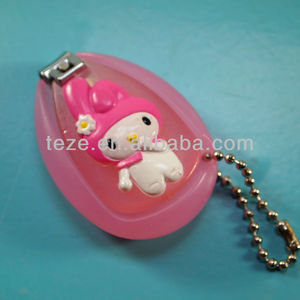 ZJQ-046 Cartoon design carbon steel with plastic cover baby nail cutter