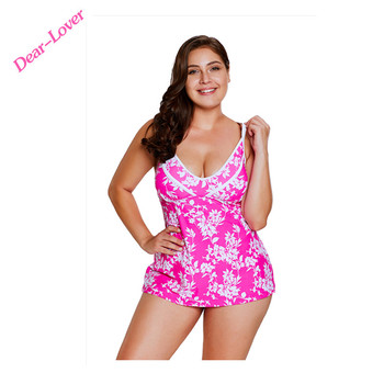 Wholesale New High Waist Printed Tankini Swimsuit Women