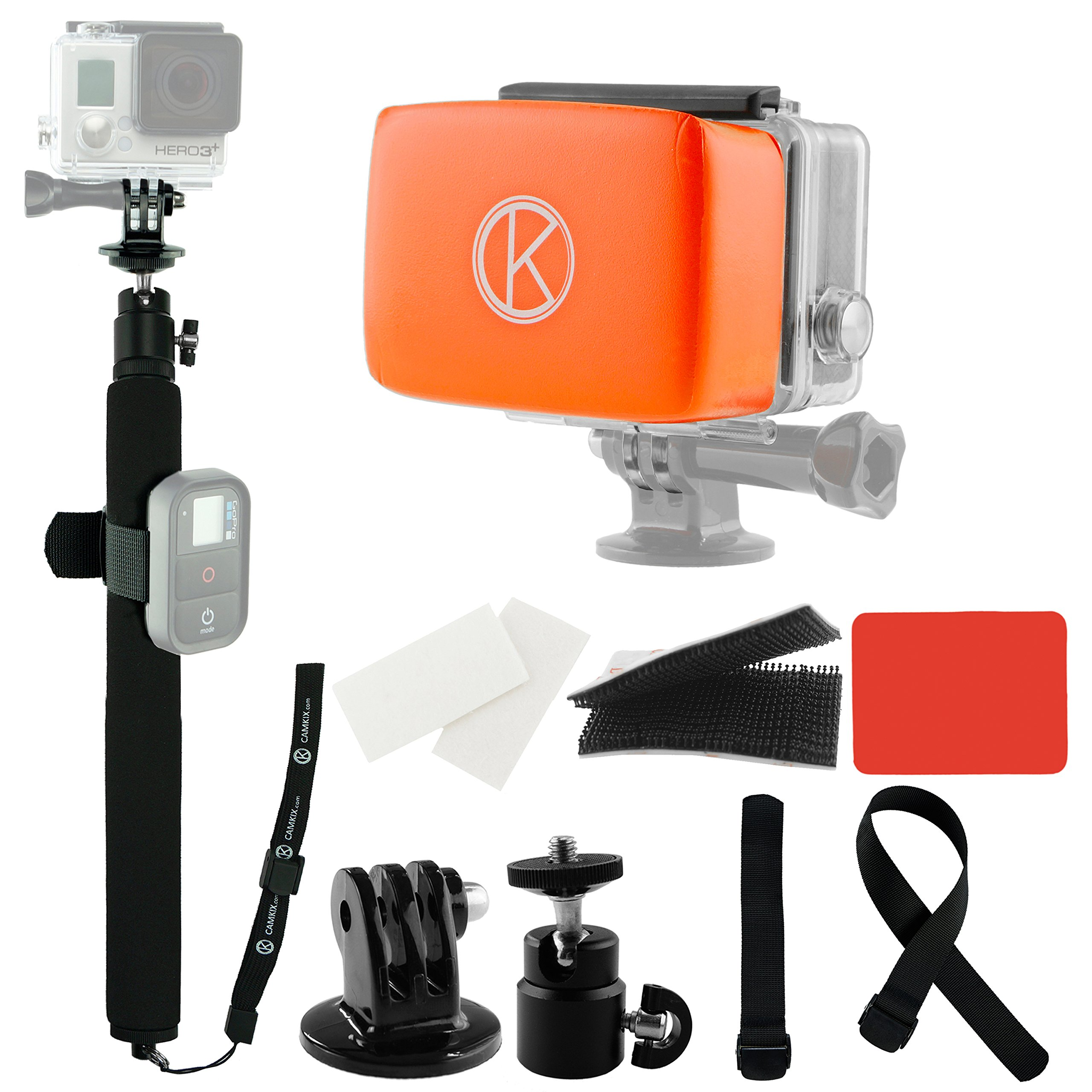 Get Quotations · CamKix Pole and Floater Bundle for GoPro Hero 4 3 3 2