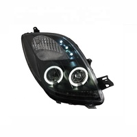 For Yaris Vitz Cars LED Angel Eyes Projector Headlamp 2006 to 2012