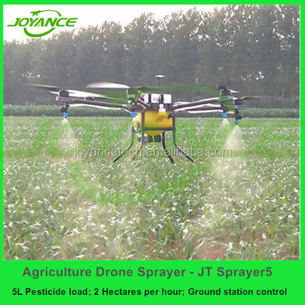 high efficiency 5KG uav agriculture , Joyance agriculture uav drone GPS, drone sprayer