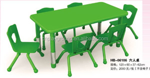 (HB-06106) wholesale kids plastic chairs and tables/ colorful height adjustable kindergarten children table