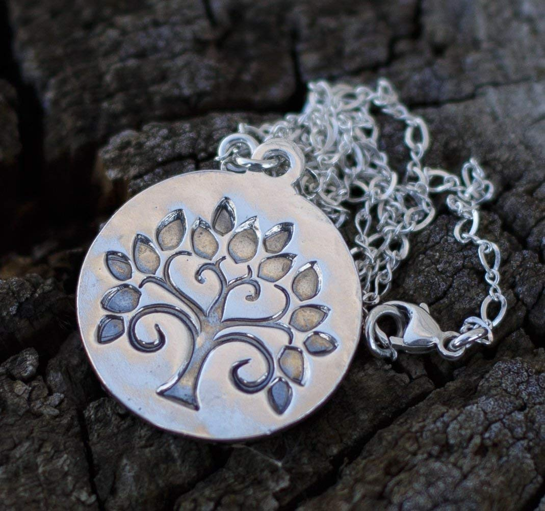 bfcde7002f76 Get Quotations · Tree of Life Sterling Silver Pendant Necklace 18 Inches ~  Ladies Gift Idea for Her