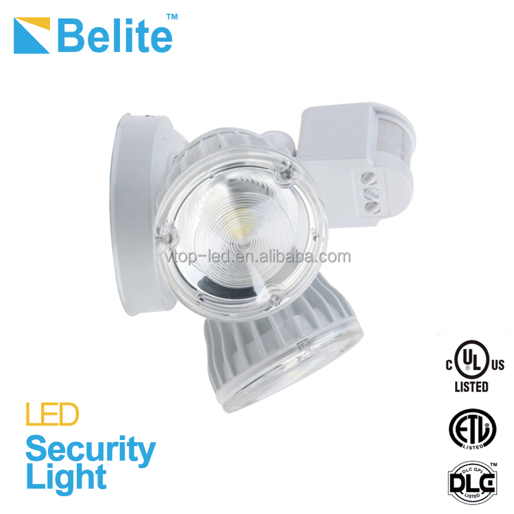 led security light 20w flood light outdoor with infrared sensor COB ip65 security flood light ETL DLC passed