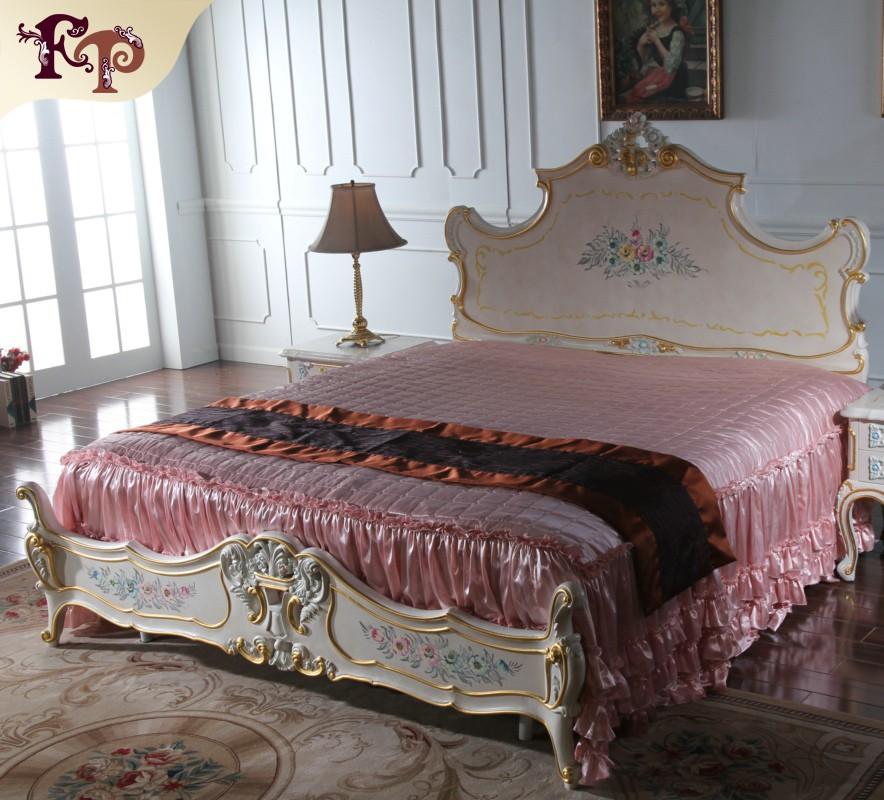 Franse louis stijl meubels-slaapkamer meubels queen bed-bedden ...