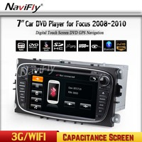 MTK 7 Inch 2 din multi touch screen Black colored car dvd player with GPS for F-ocus from 2008-2010