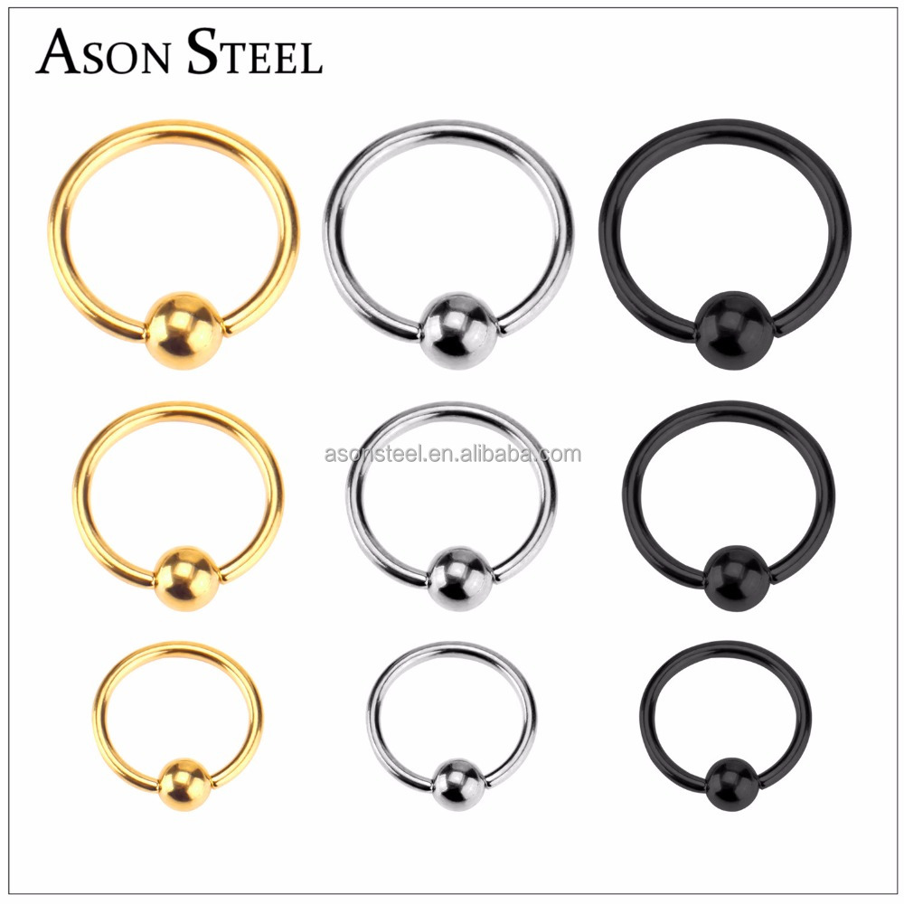 2017 Brand New Nose Ring Indian Nose Hoop Magnetic Nose Stud 9 Pcs / Set Colored Gold Sliver Black Stainless Steel Ring