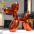 High Quality Garden Ornaments stainless steel Balloon Dog sculpture