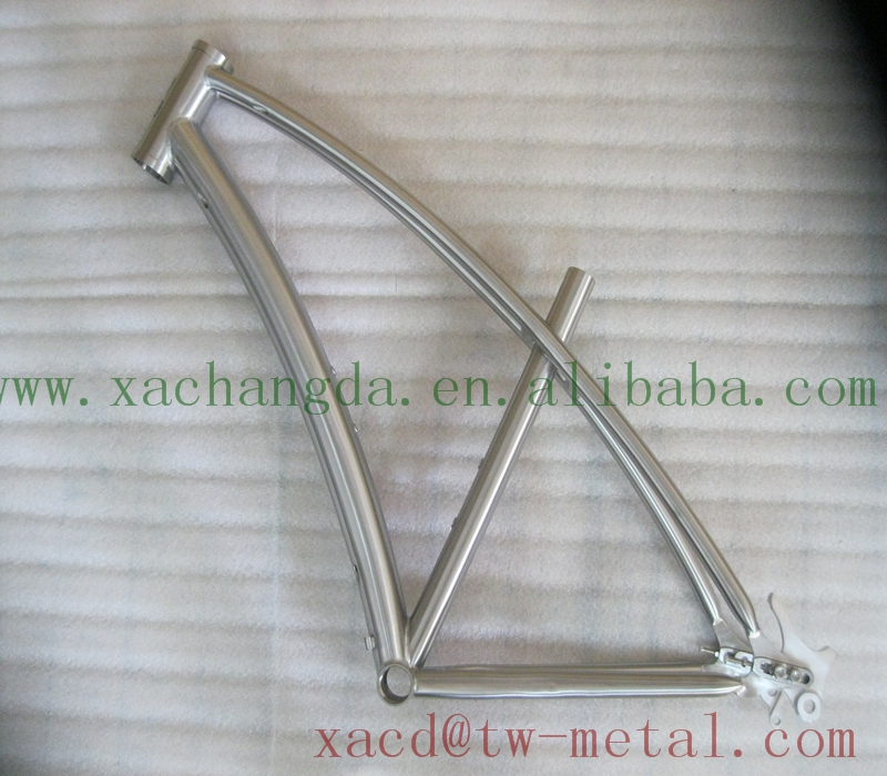 Titanium newsboy bicycle frame with inner line routing customzied ti MTB bike frame OEM titanium cruiser bicycle frame