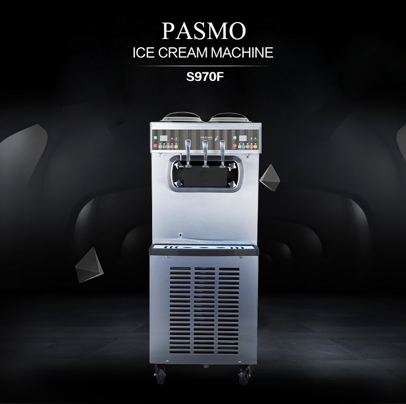 Pasmo2+1 twist flavors low cost high performance home use/commercial ice cream maker