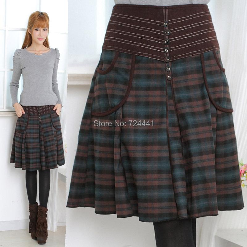 Plaid Skirt Plus 107
