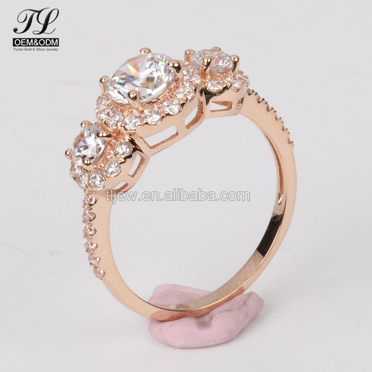 Latest Design Ladies American Diamond Gold Little Finger Rings With ...