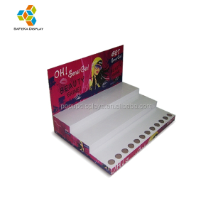 Paper material Advertising Eye shadow Cosmetics Cardboard Retail Display Counters Units