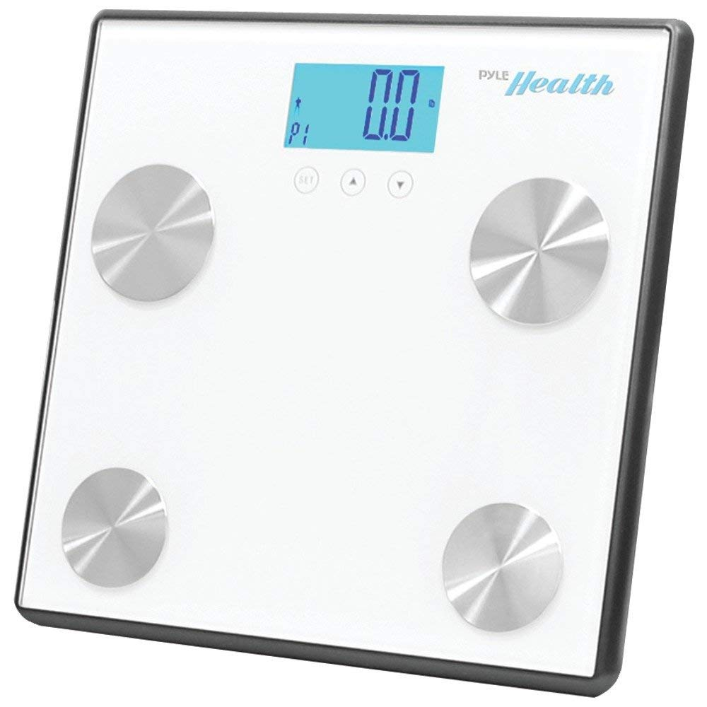 PYLE-SPORTS PHLSCBT4WT Bluetooth(R) Digital Weight & Personal Health Scale with Wireless Smartphone Data Transfer (White) - ONE YEAR Warranty