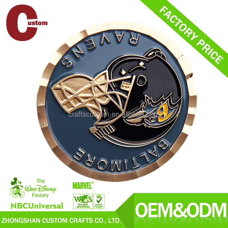 Factory direct custom School logo Souvenir metal Coin for gifts sale