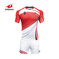 Branded Discount Rugby Shirt Football Wear Uniforms Printing Sublimation Rugby Jersey