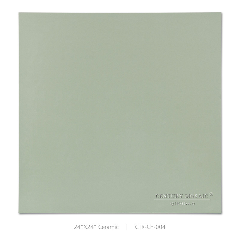 Top level green ceramic glaze parquet tiles for fireplace