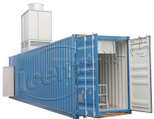 Plant container containerized block ice machine