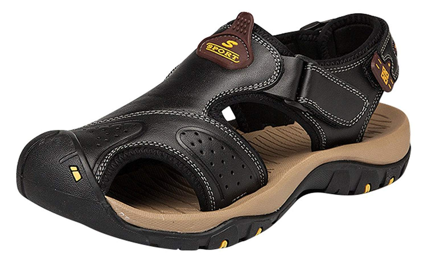 8dd9986040f Get Quotations · ACE SHOCK Athletic Sandals Men Leather