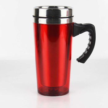 030c751f3f3 Double Wall Stainless Steel Coffee Mug With Handle And Lid,15oz Plastic  Auto Mug Car
