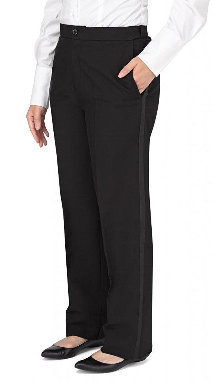 4dbdae5117b Get Quotations · Kyle Thomas Women's Polyester Plain Front Tuxedo Pant