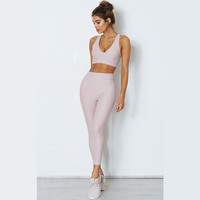 Private Label Women Gym Leggings Running Clothing Athletic Yoga Fitness Wear Set Women
