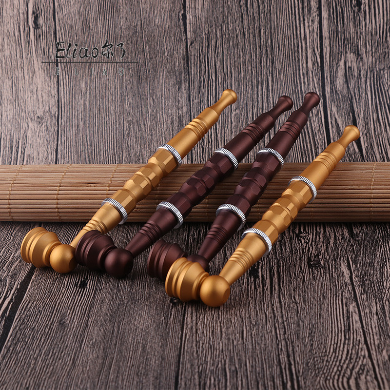 Erliao Wholesale Fashion New short  Dry metal smoking pipe Herbal Pipe