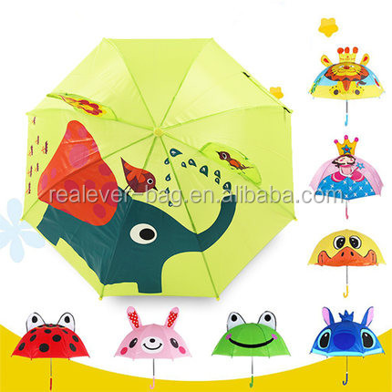 promotional cartoon compact kid umbrellas