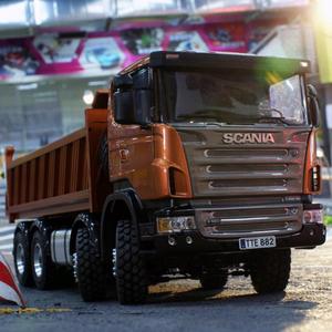 1/14 dump truck Scania full drive 8X8 hydraulic dump truck high torque  electric model LS-20130002 RCLESU Tamiya truck