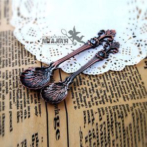 Elegant Retro Carved Zinc alloy Coffee Stirring Spoon Mini Desserts Ice cream Spoons