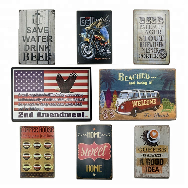 Wholesale Best Quality Direct Sale Custom Embossed Tin Signs Wholesale  Printing Vintage Metal Bar Blank Tin Sign - Buy Cheap Metal Tin Signs,Cheap