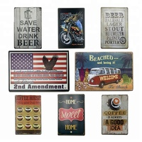 wholesale best quality Direct Sale Custom Embossed Tin Signs Wholesale Printing Vintage Metal bar Blank Tin Sign