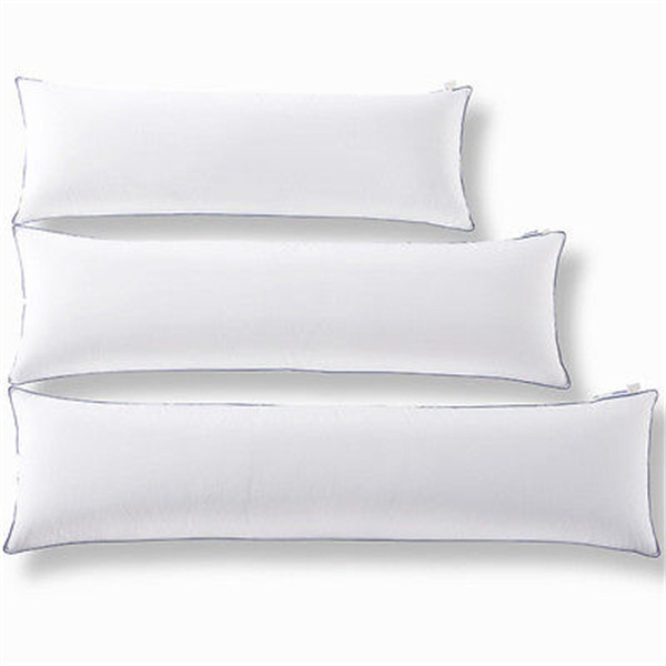 100 Polyester Microfiber Pure Blank White Body Pillow Cover For