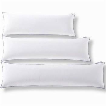 40% Polyester Microfiber Pure Blank White Body Pillow Cover For Gorgeous Microfiber Body Pillow Cover