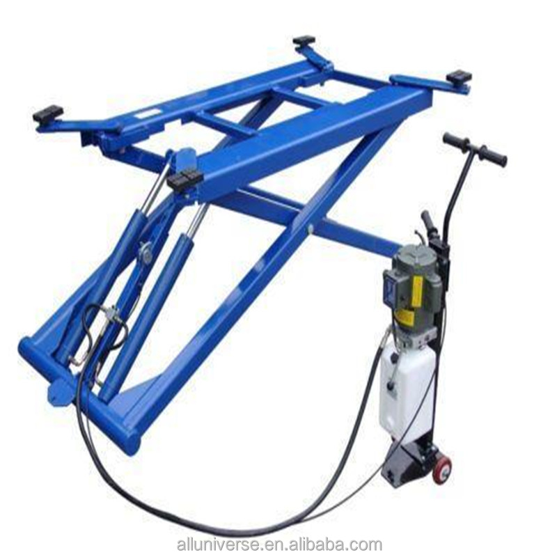 Small scissor car lift Hydraulic car washing ramp machine