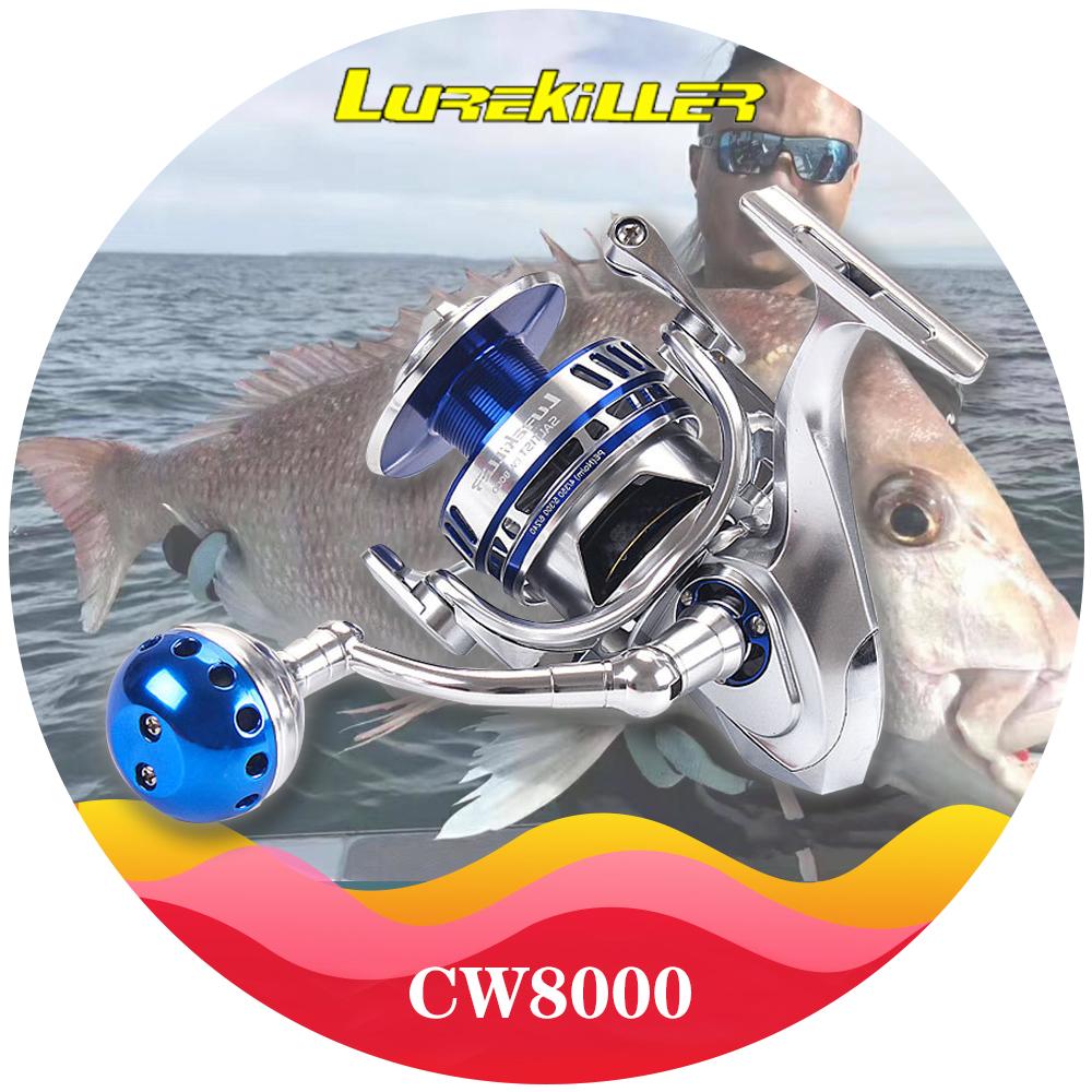 Lurekiller Full Metal Body Spinnnig Jigging Reel Saltwater Boat Reel CW8000 30KGS drag Carbon Washers