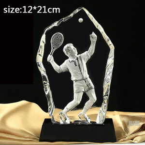 2019 Noble Customized Crystal Tennis Trophy Made in China