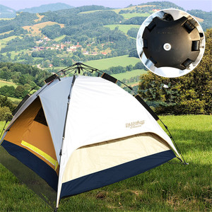 3-4 person double layer dual doors Outdoor Camping tent Four season Family Tents For adventure Tent