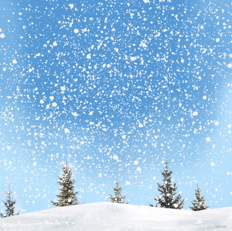 Scenic Snow Background Attractive Christmas Theme