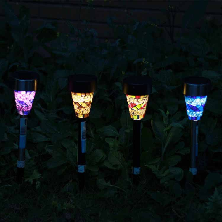 6pcs lot solar powered lawn lights led outdoor pathway - Decorative garden lights solar powered ...