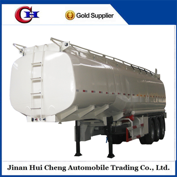 Tri-axle Oil Fuel Tank Truck Trailer Dimension 4000l For Sale ...