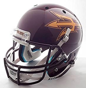 ARIZONA STATE SUN DEVILS Schutt AiR XP Authentic GAMEDAY Football Helmet (MAROON)