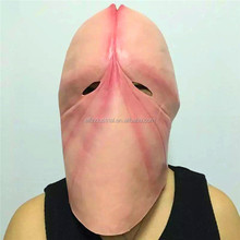 New Design Canival Realistic Awesome Mask Full Head Rubber Latex Horrorable Halloween Sex Toy Penis Mask